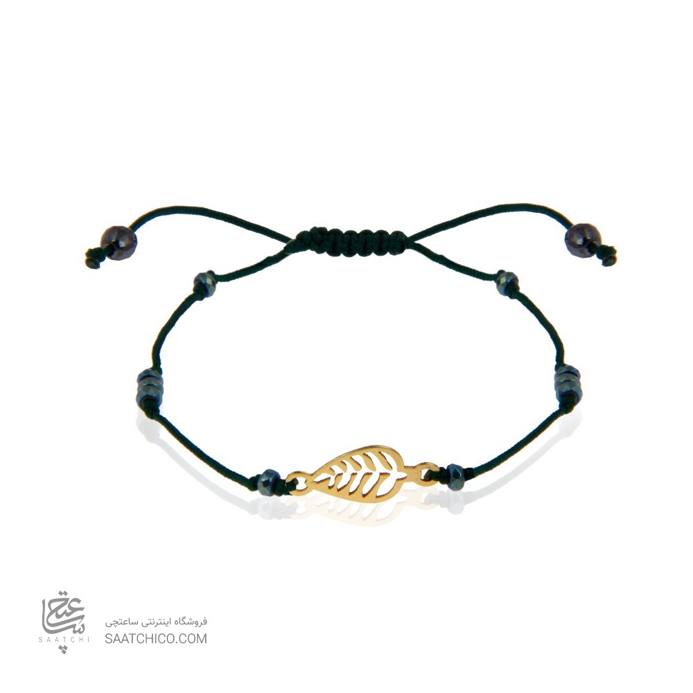 دستبند طلا زنانه طرح برگ کد xb980