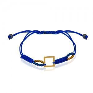 دستبند طلا زنانه طرح هندسی کد xb978