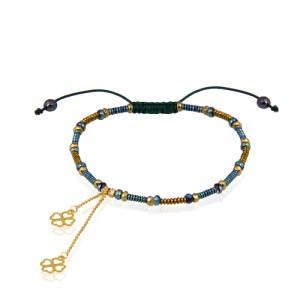 دستبند طلا زنانه با آویز ونکلیف کد xb973