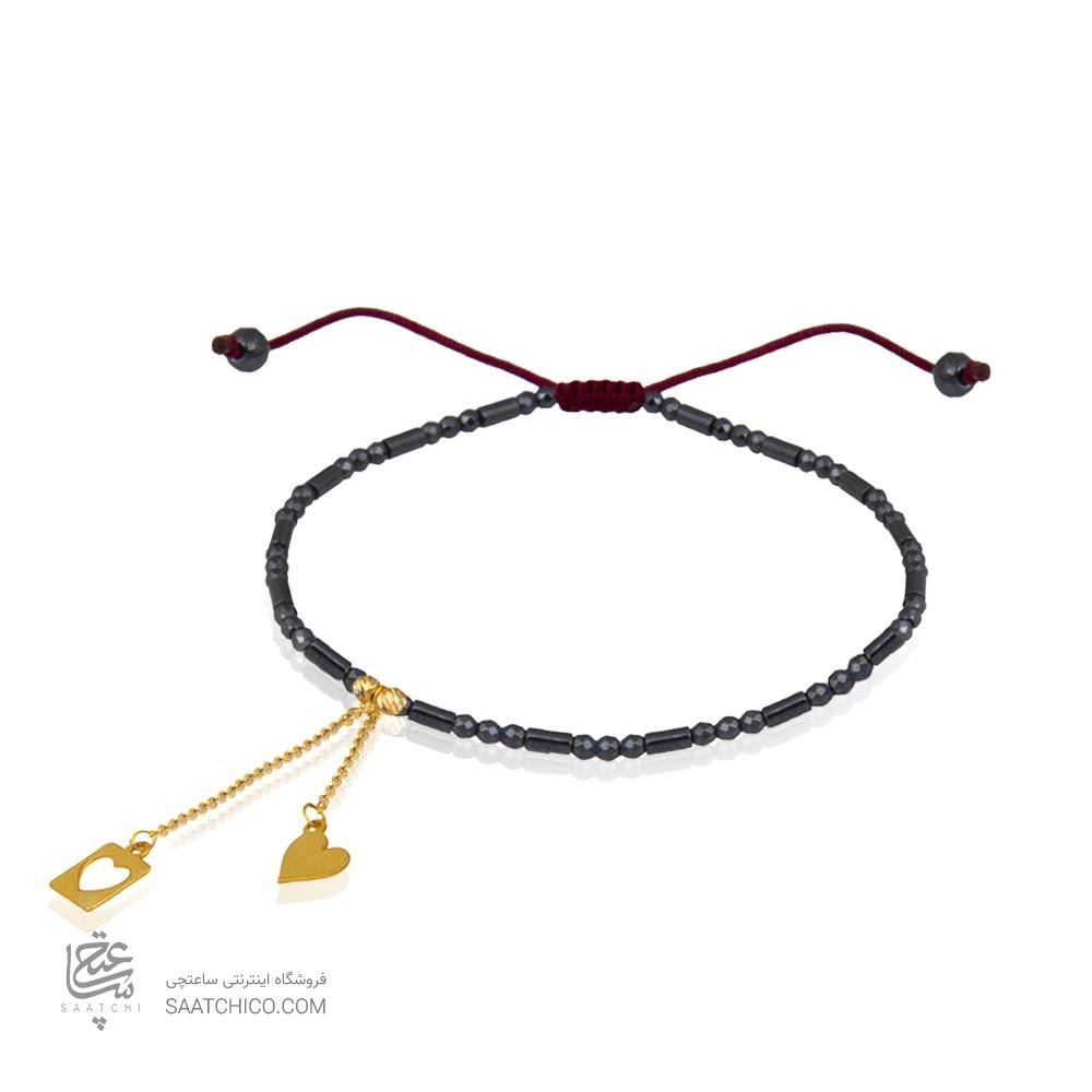 دستبند طلا زنانه با آویز قلب کد xb971