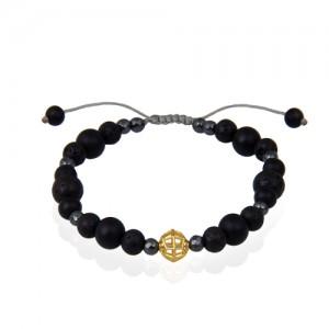 دستبند طلا مردانه طرح هندسی کد mb116