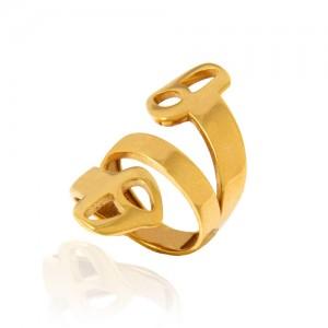 انگشتر طلا زنانه طرح نیمانی کد cr434