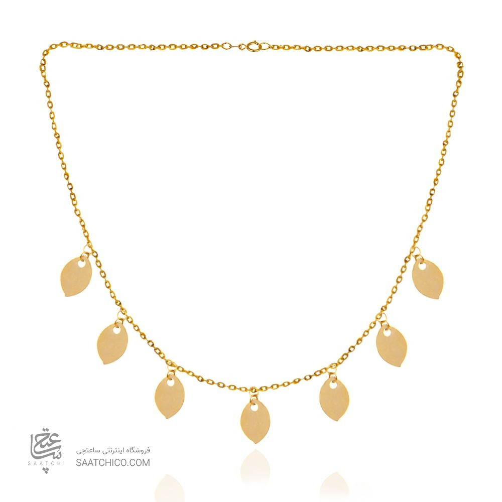 گردنبند طلا زنانه با پولک کد ln824