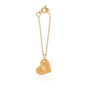 آویز ساعت طلا زنانه طرح قلب کد wp352