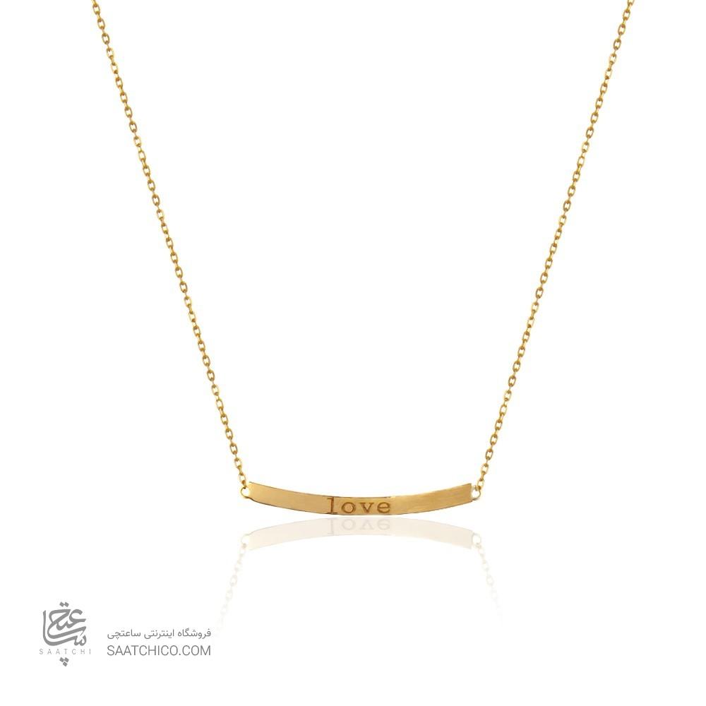 گردنبند طلا زنانه طرح love کد ln827