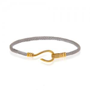 دستبند طلا زنانه طرح فرد کد cb359
