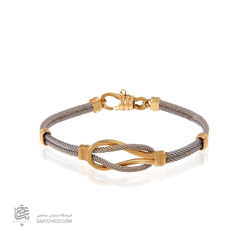 دستبند طلا زنانه طرح فرد کد cb363