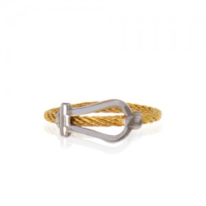 انگشتر طلا زنانه طرح فرد کد cr436