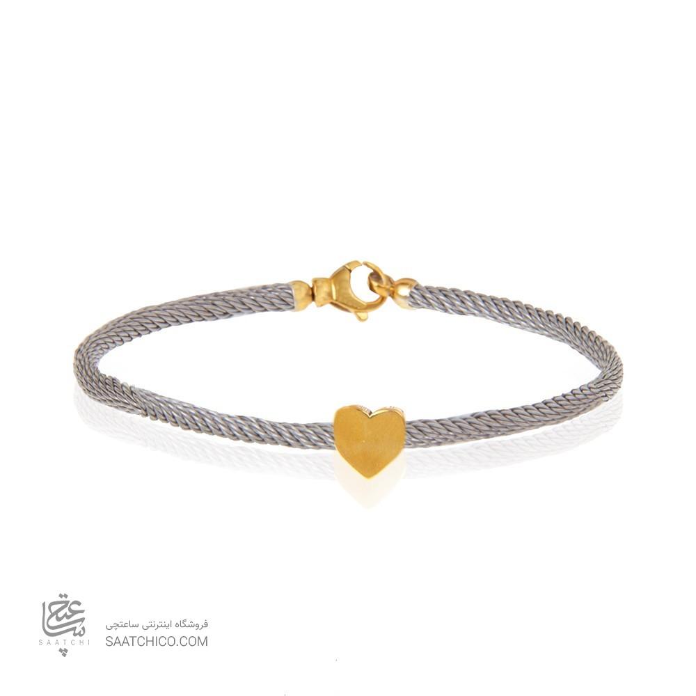 دستبند طلا زنانه فرد طرح قلب کد cb358