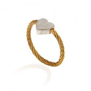 انگشتر طلا زنانه فرد طرح قلب کد cr440