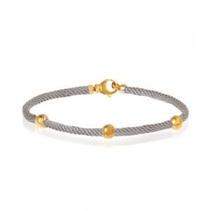 دستبند طلا زنانه طرح فرد با گوی کد cb362