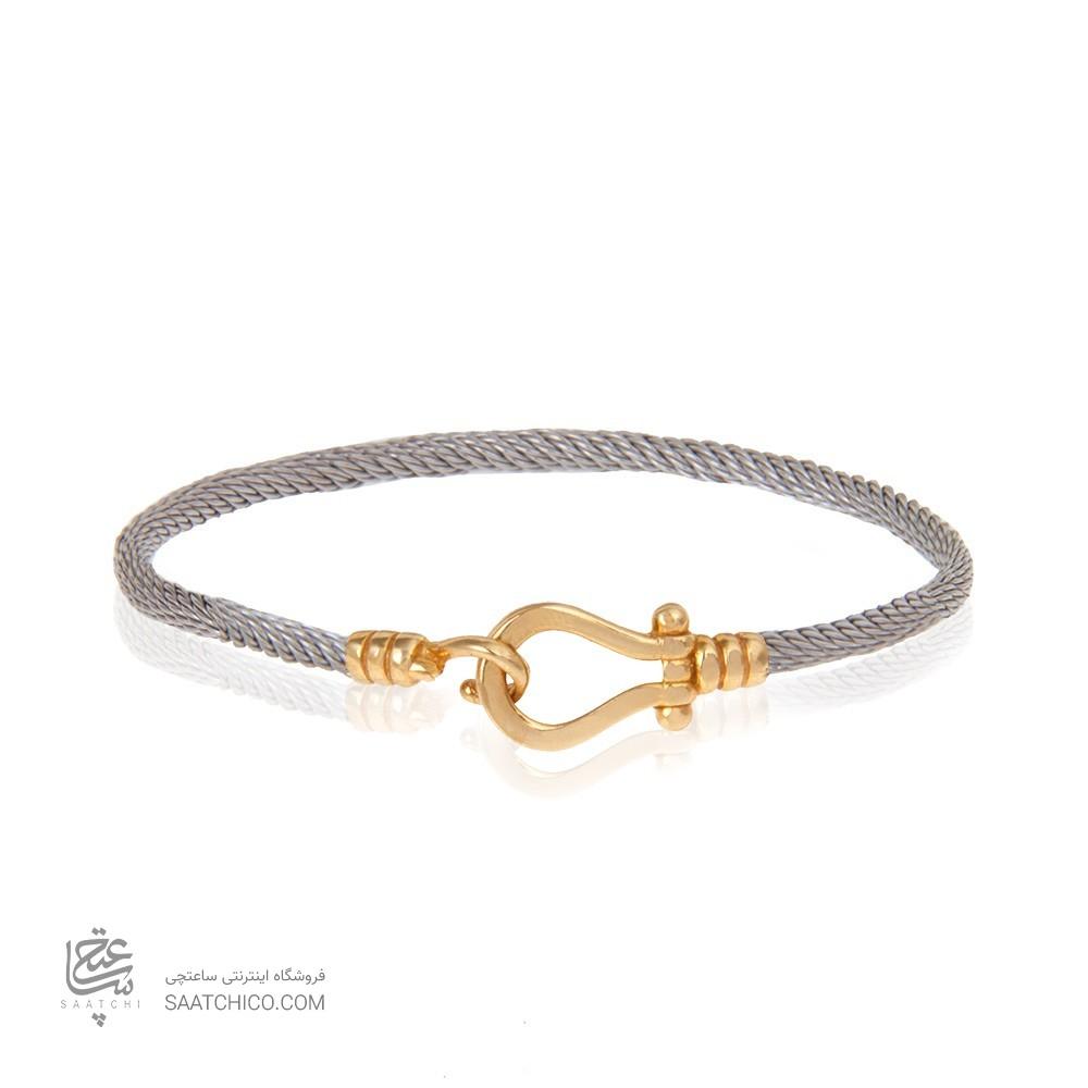 دستبند طلا زنانه طرح فرد کد cb361