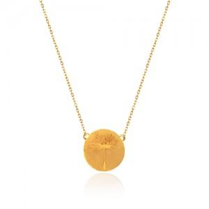 گردنبند طلا زنانه طرح قاصدک کد ln829