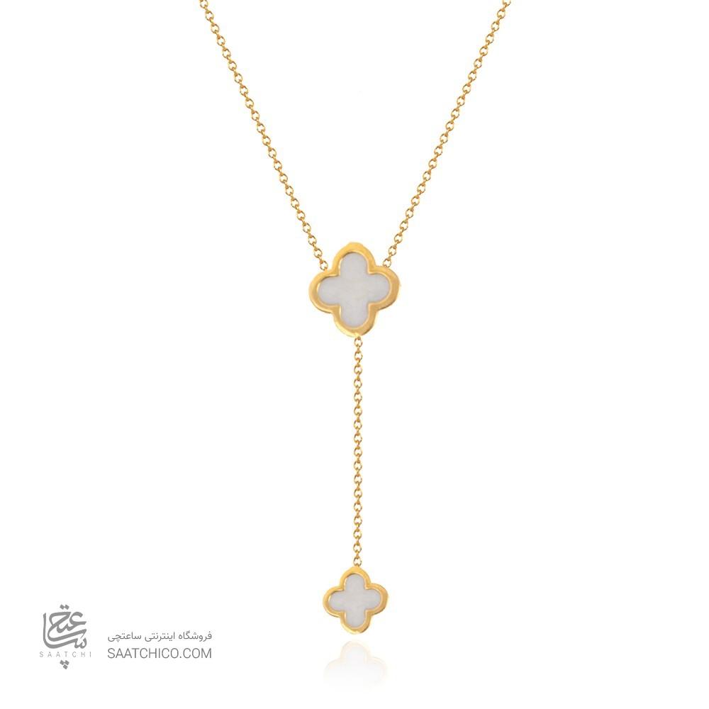 گردنبند طلا زنانه طرح ونکلیف کد cn380