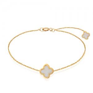 دستبند طلا زنانه طرح ونکلیف کد cb364