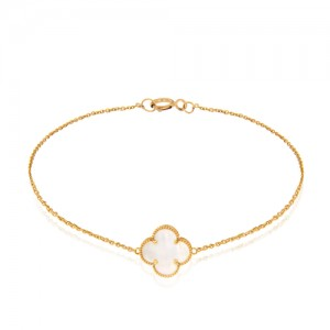 دستبند طلا زنانه طرح ونکلیف کد cb356