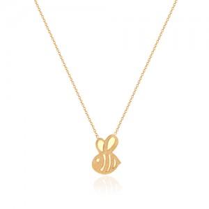 گردنبند طلا کودک طرح زنبور کد kn705