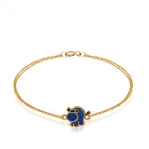 دستبند طلا کودک طرح گاو کد kb327