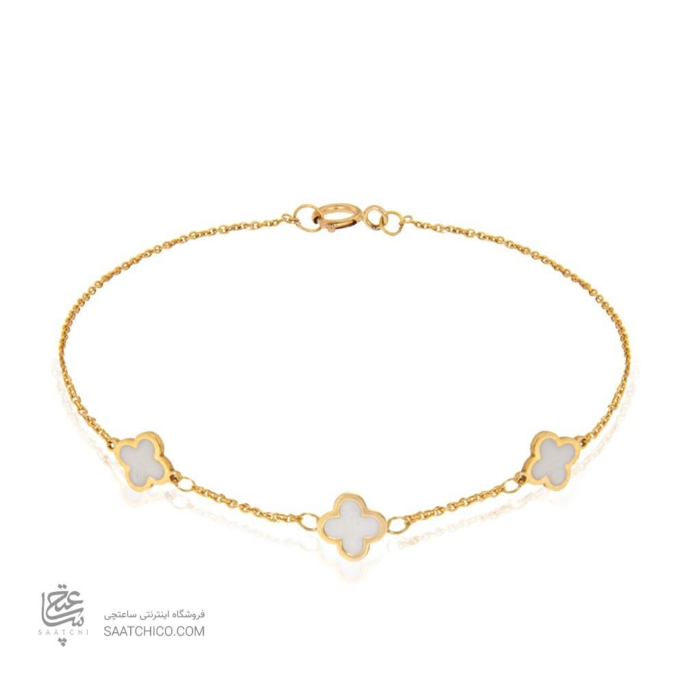 دستبند طلا کودک طرح ونکلیف کد kb328