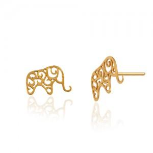 گوشواره طلا طرح فیل کد le619
