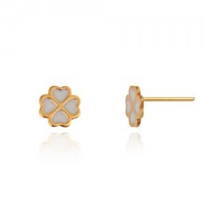 گوشواره طلا زنانه طرح گل چهار پر کد le618