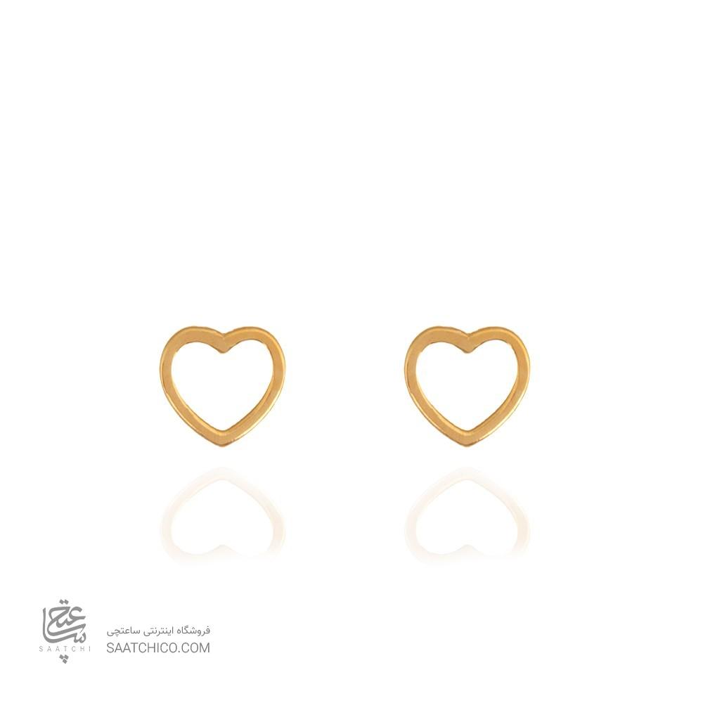 گوشواره طلا زنانه طرح قلب کد le615
