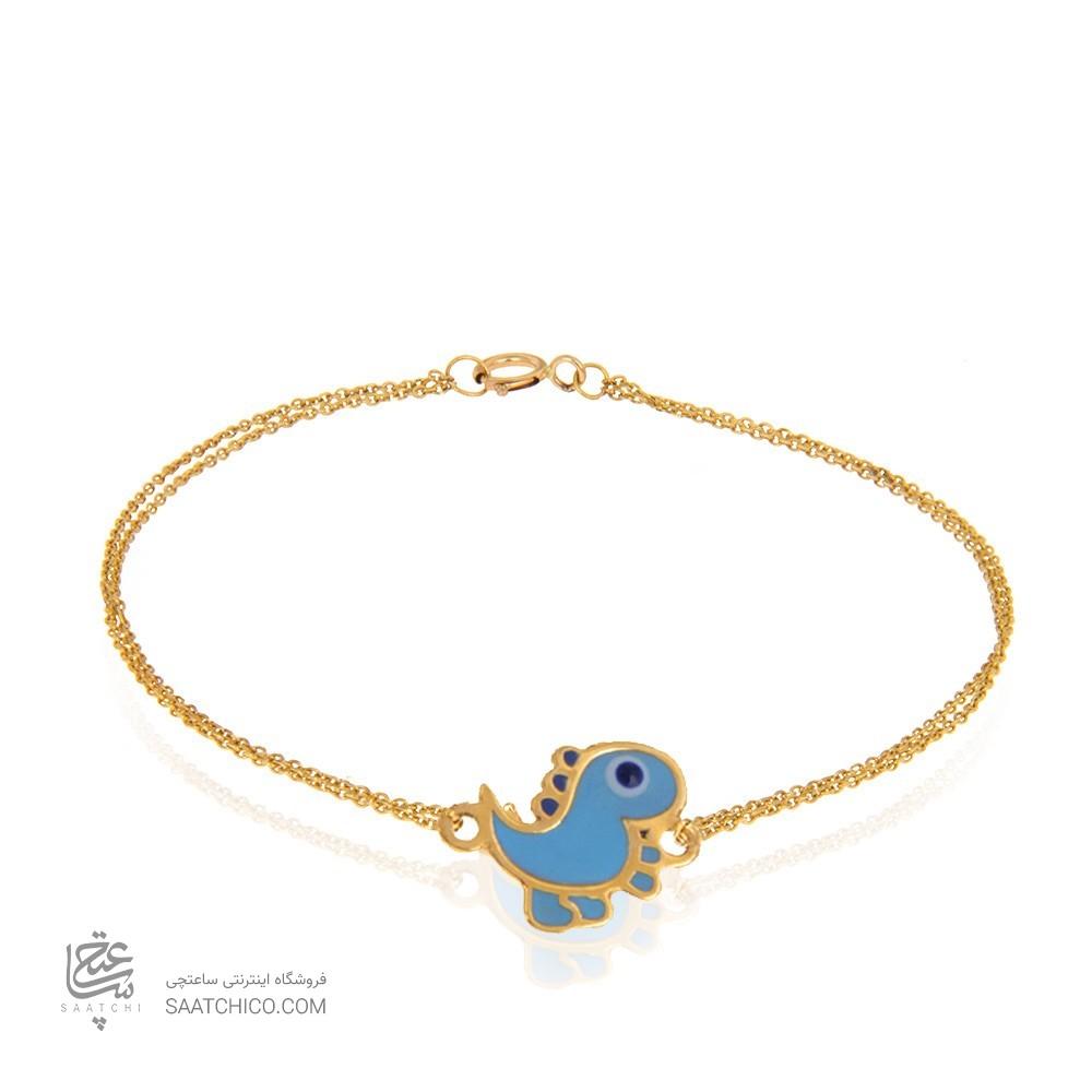 دستبند طلا کودک طرح دایناسور کد kb330