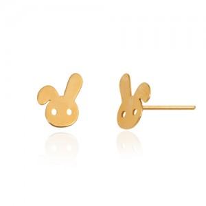 گوشواره طلا کودک طرح خرگوش کد ke103