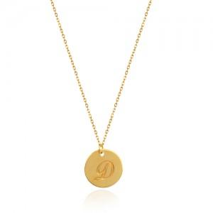 گردنبند طلا زنانه طرح حرف انگلیسی کد ln831
