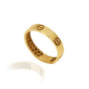 انگشتر طلا زنانه طرح کارتیه کد cr441