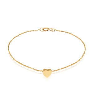 دستبند طلا طرح قلب کد cb367