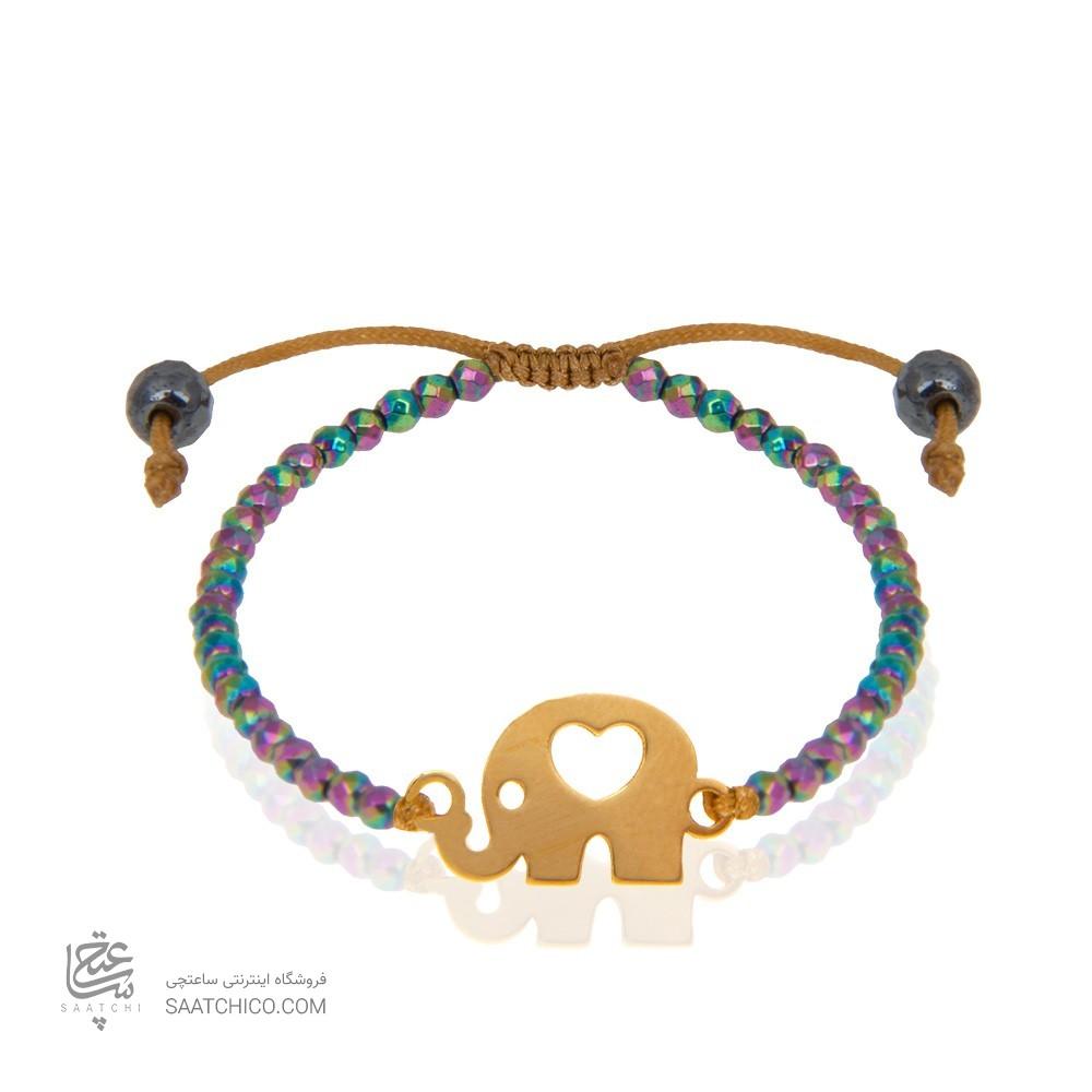 دستبند طلا کودک طرح فیل کد kb332