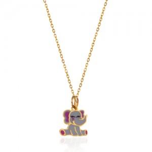 آویز طلا کودک طرح فیل کد kp614
