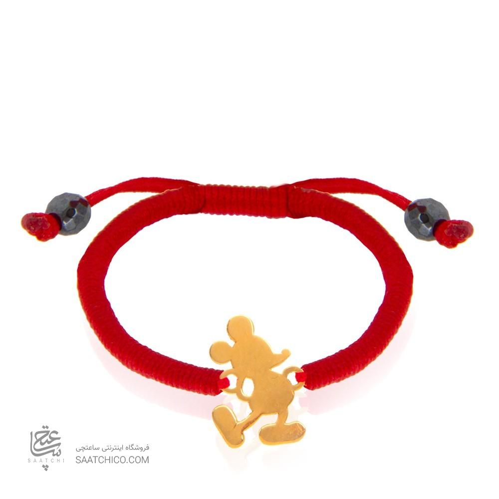 دستبند طلا کودک طرح میکی ماوس کد kb336