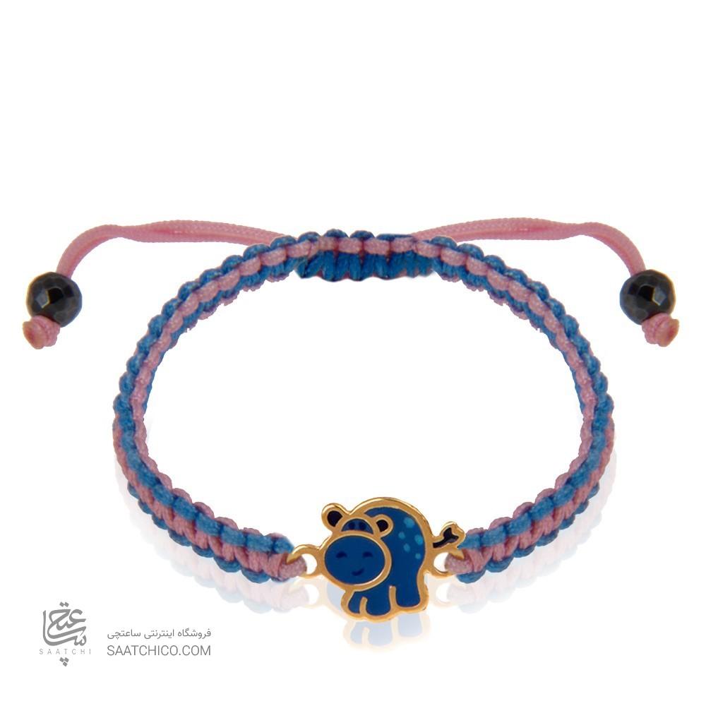 دستبند طلا کودک طرح گاو کد kb338