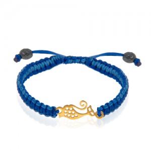 دستبند طلا کودک طرح گربه کد kb335