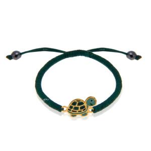 دستبند طلا کودک طرح لاک پشت کد KB337