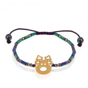 دستبند طلا کودک طرح گوزن کد kb334