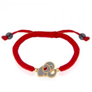 دستبند طلا کودک طرح فیل کد kb341