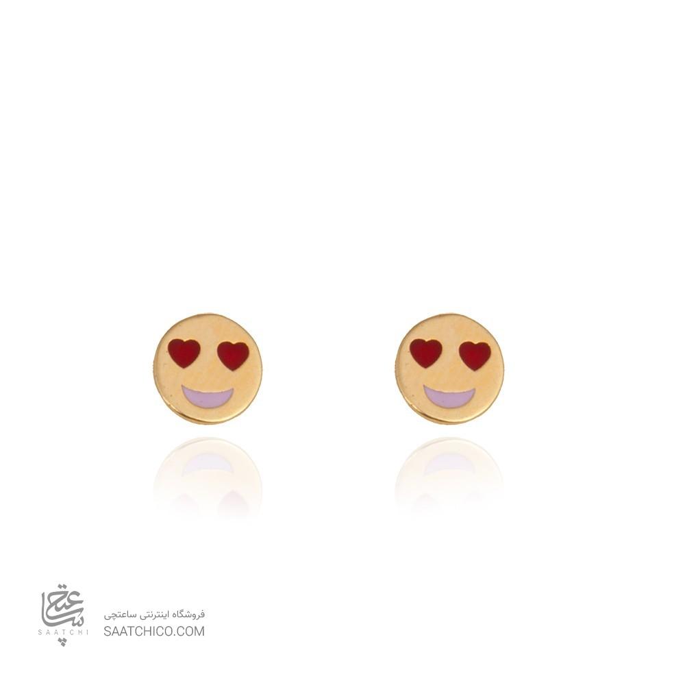 گوشواره طلا طرح emoji کد ke102