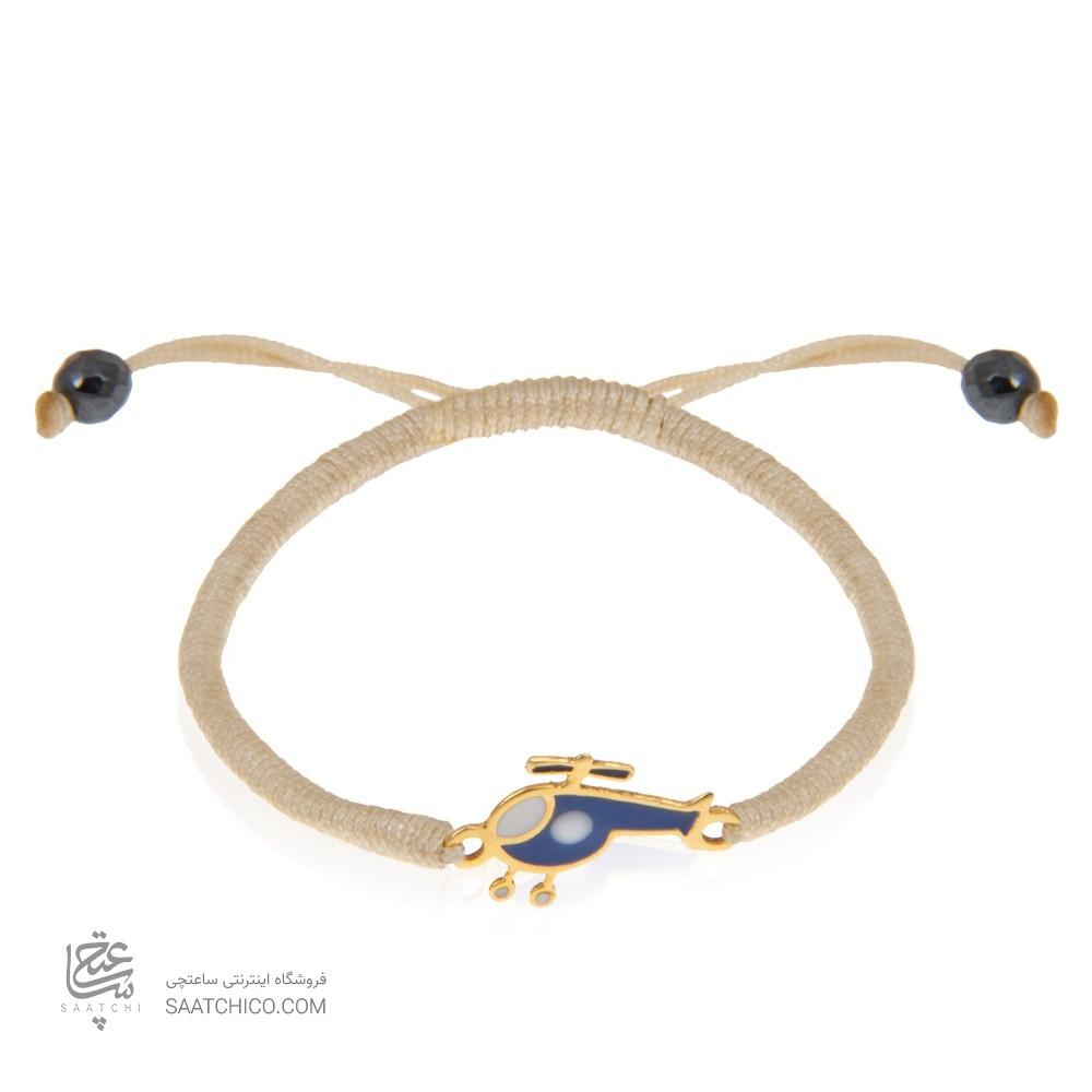 دستبند طلا کودک طرح هلی کوپتر کد kb343