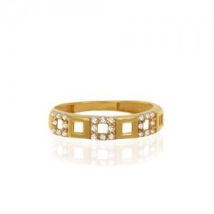انگشتر طلا زنانه با نگین کد cr442