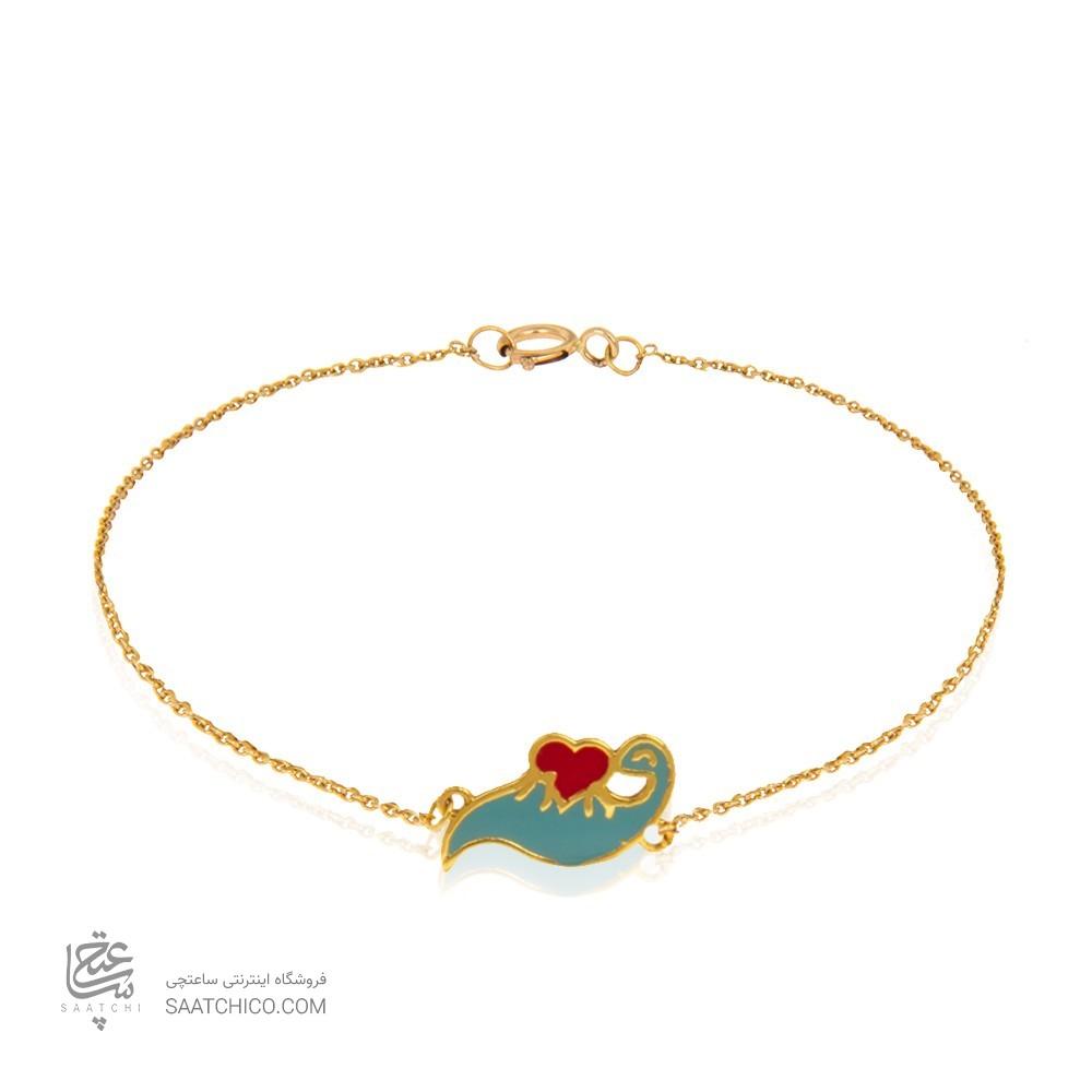 دستبند طلا کودک طرح سرند پیتی کد kb345