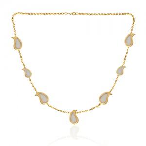 گردنبند طلا زنانه طرح بته جقه کد CN389