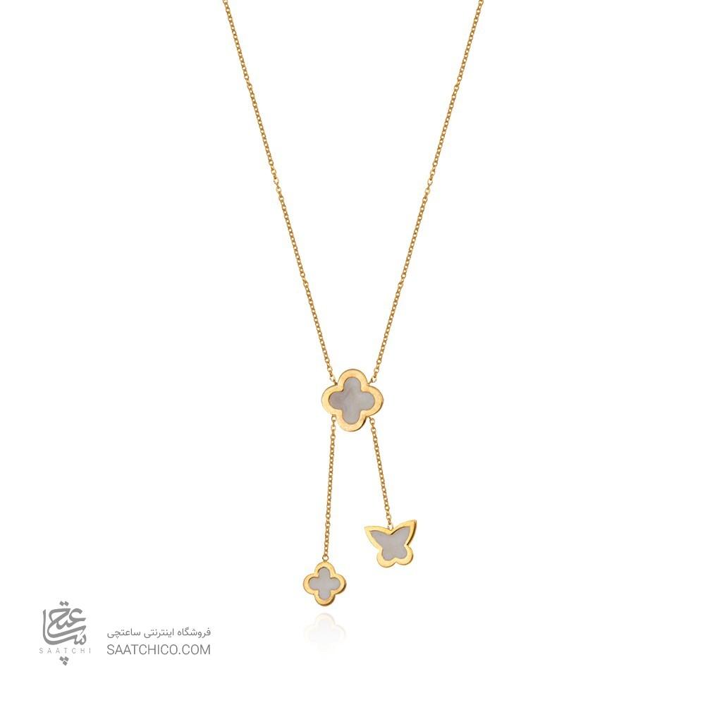 گردنبند طلا زنانه طرح ونکلیف کد cn388