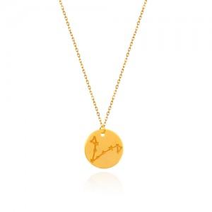 گردنبند طلا زنانه نماد ماه تولد کدln833