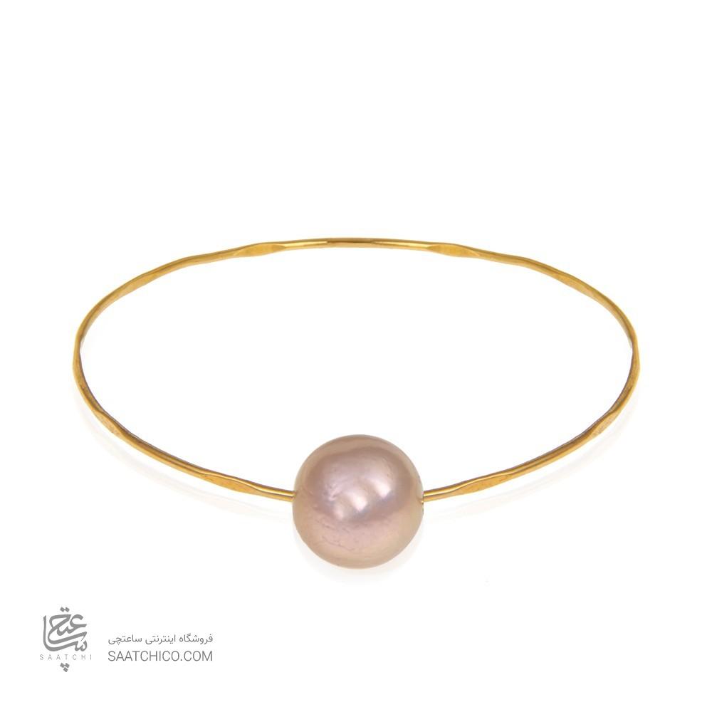 دستبند طلا زنانه با مروارید کد xb721