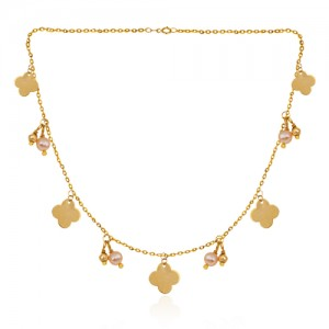 گردنبند طلا زنانه طرح ونکلیف کد xn326