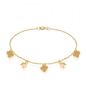 دستبند طلا زنانه طرح ونکلیف کد xb989