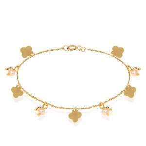 پابند طلا زنانه طرح ونکلیف کد xa113